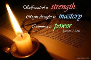 James Allen Picture Quote - Calmness Is Power - MLQuotes