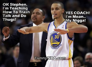 Stephen Curry trying to learn things from his Coach Mark Jackson