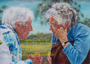 In years, our faces will wrinkle, eyes may droop, hair may brittle ...