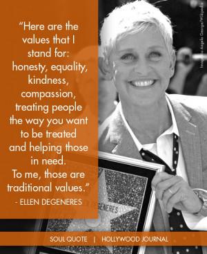 Ellen DeGeneres | Soul Quote HollywoodJournal.com @HollywoodJournal