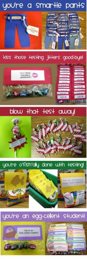 Cute ideas for cheer competition gifts! Instead of class room sayings ...