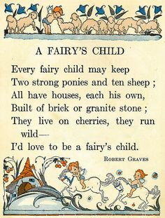 Fairy's Child by Robert Graves More
