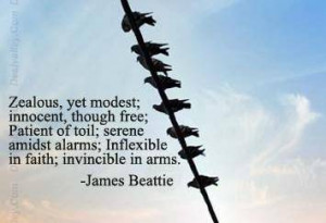 Zealous yet modest,innocent though free,Patient of toil,Serene amidst ...
