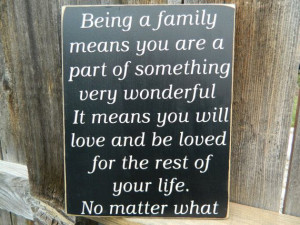 Inspirational Quote-Family wood sign