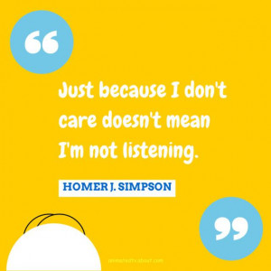 Homer Simpson Quote About Listening - Nancy Basile / About.com
