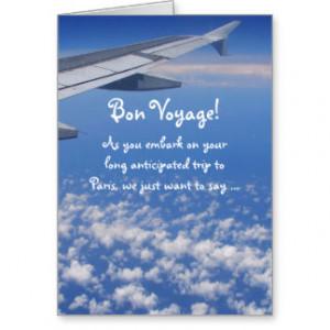 Funny French Dog & Cat Bon Voyage Card