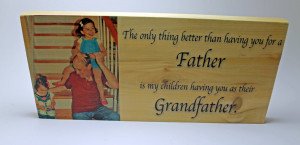 Father Son Quotes For Scrapbooking Gift for grandpa: father