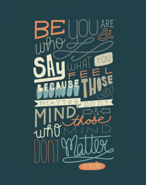 Dr. Seuss Quote 11x14 Typography Art Print. $23.00, via Etsy.