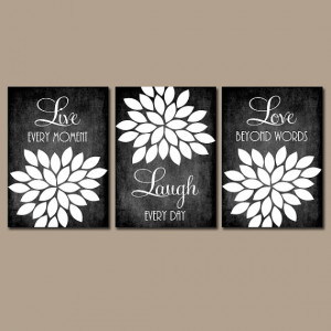 Wall Art Canvas Chalkboard Quote Kitchen Wall Art Girl Bedroom Wall ...