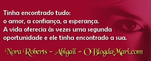 Abigail – Nora Roberts – #Resenha