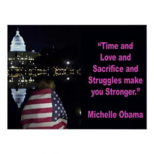 Michelle Obama inspirational quote Poster