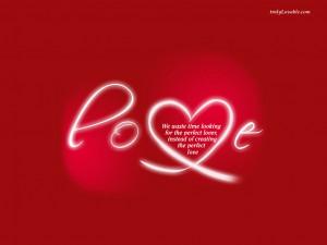 Romantic perfect love