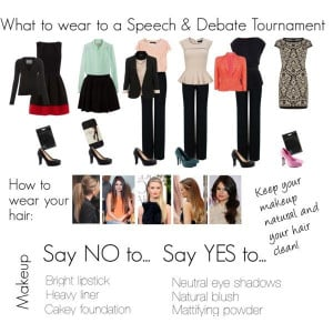 Speech team/ debate team outfits