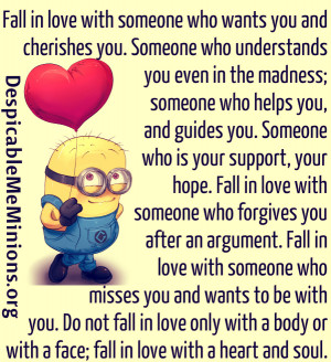 Minion Quotes – Fall in love with someone who