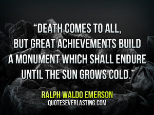 Emerson Quotes About Death