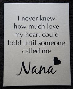 Quotes About Nana Love