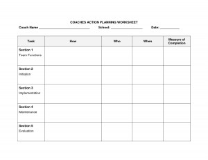Action Plan Template Literacy Coach
