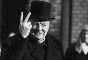 10th November 1942: Winston Churchill (1874 - 1965) giving the