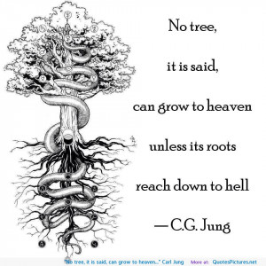 """No tree, it is said, can grow to heaven…"""" Carl Jung"""