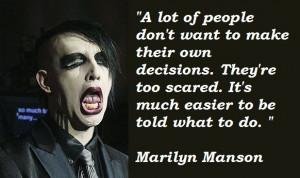 marilyn manson quotes -