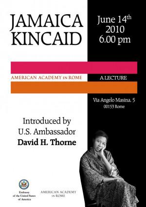 Jamaica Kincaid Reads...