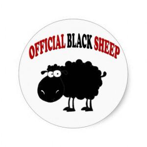 Funny black sheep sticker