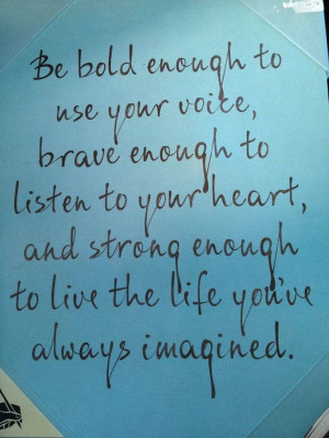 Being bold...