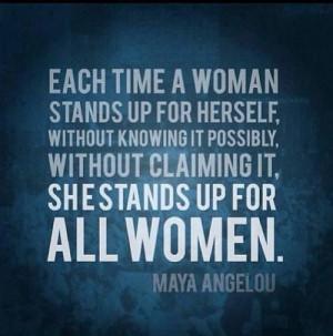 Maya Angelou quote #wisdom #quotes #women #feminism #unity: Maya ...