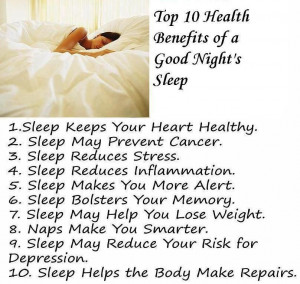 Top 10 Health Benefits , Good Night's Sleep, Healthy Living, Good ...