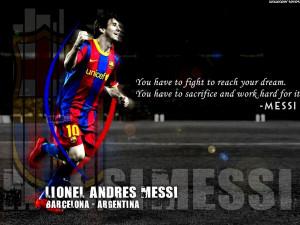 Home » Quotes » Lionel Messi - Dream Motivational Quotes Wallpaper