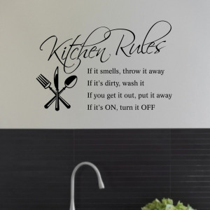 ... House Rules Removable Wall Sticker Vinyl Decal Wall Art Home Decor
