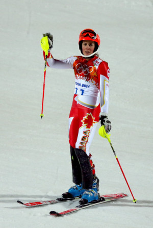 Marie Michele Gagnon Marie Michele Gagnon of Canada reacts after her