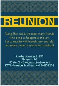 PurpleTrail 20 year reunion invitation