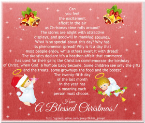 christian christmas blessings sayings