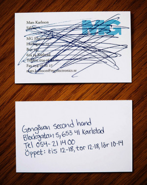 Business-card second hand