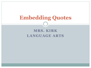 Embedding+quotes
