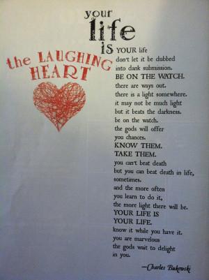 Charles Bukowski Quotes On Life Life - charles bukowski