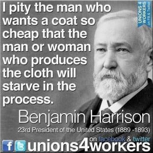 YES! Good quote on labor, unions & how America spends its money