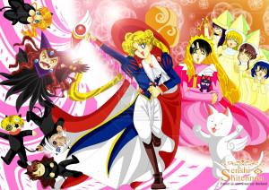 Sailormoon crossover Card Captor Sakura by anemoneploy