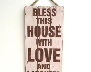 Home, Inspirational Sayings, Wooden Sign with Quote, Family Values ...