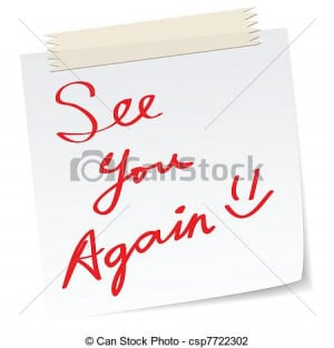 Vector - see you again message - stock illustration, royalty free ...