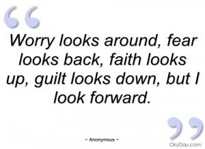 worry looks around anonymous