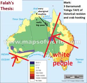 Australia Population Density Map