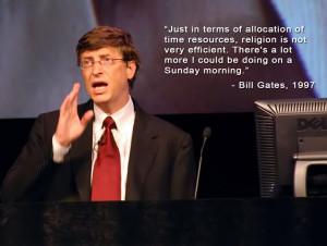 Bill Gates Religion Quote wallpaper