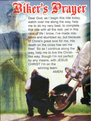 Bikers Prayer Bikersprayer