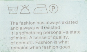 Access Asia emailed out this photo of a fashion quote from a clothing ...