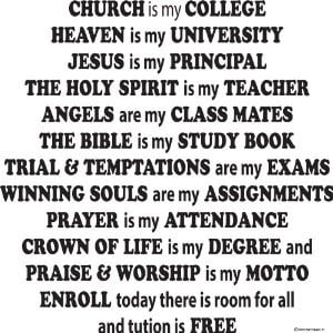 Church Is My College