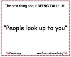 funny quotes about being tall