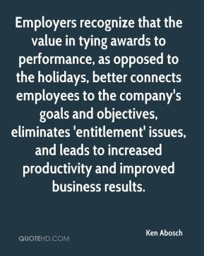 Employers recognize that the value in tying awards to performance, as ...