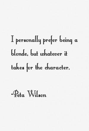 Peta Wilson Quotes & Sayings